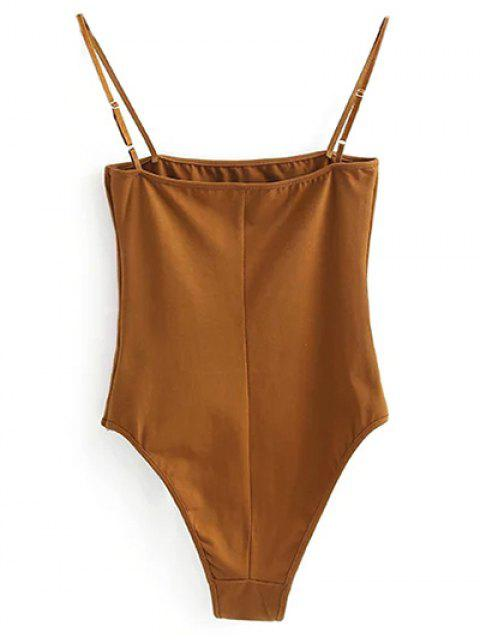 shop Camisole Bodysuit - GOLD BROWN S Mobile