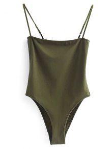 Body De Tiras - Verde Del Ejército S