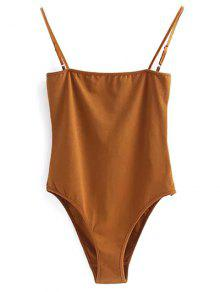 Camisole Bodysuit - Gold Brown S
