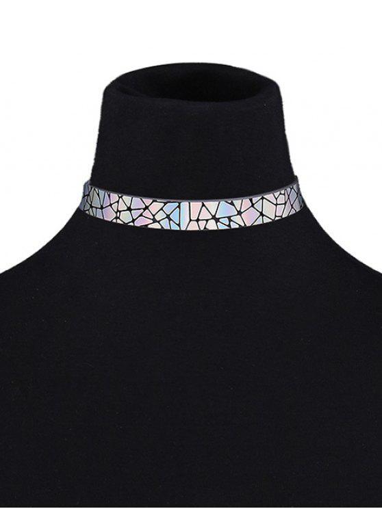 Collier court géométrique en faux cuir - Multicolore