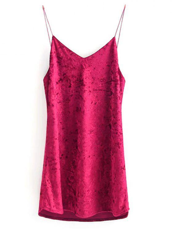 buy Crushed Velvet Cami Dress - ROSE M