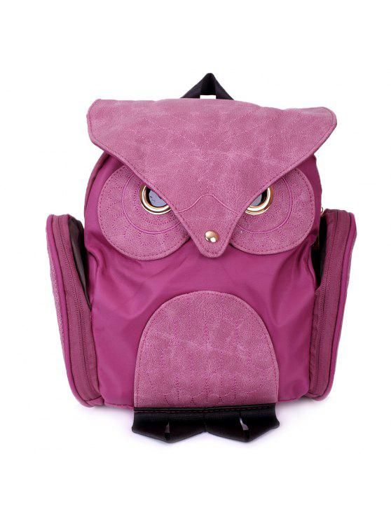 women's Stylish Owl Shape Solid Color Design Women Shoulder Satchel - ROSE