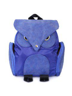 Stylish Owl Shape Solid Color Design Women Shoulder Satchel - Blue