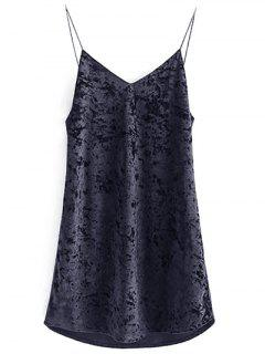 Crushed Velvet Cami Dress - Black S