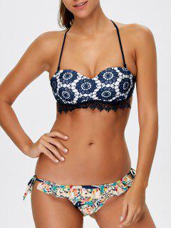 Bikini Estampado Tirantes  - Azul S