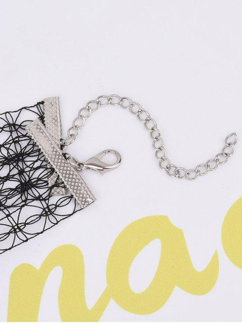chic Lace Hollowed Choker Necklace -   Mobile