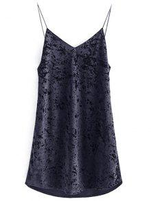 Crushed Velvet Cami Dress - Black M