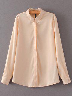 Satins Formal Shirt - Yellowish Pink S