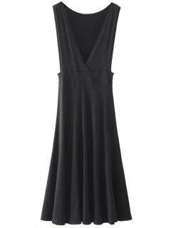 Midi Flared Tank Dress - Black S