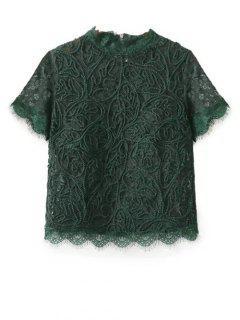 Mock, Cordón Del Cuello - Verde S