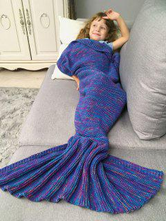 Mix Color Kids' Knit Mermaid Blanket Throw - Deep Purple