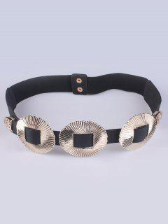 Embellished Elastic Waist Belt - Golden