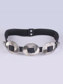 Embellished Elastic Waist Belt - Silver