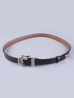Pin Buckle Vintage Waist Belt - Coffee
