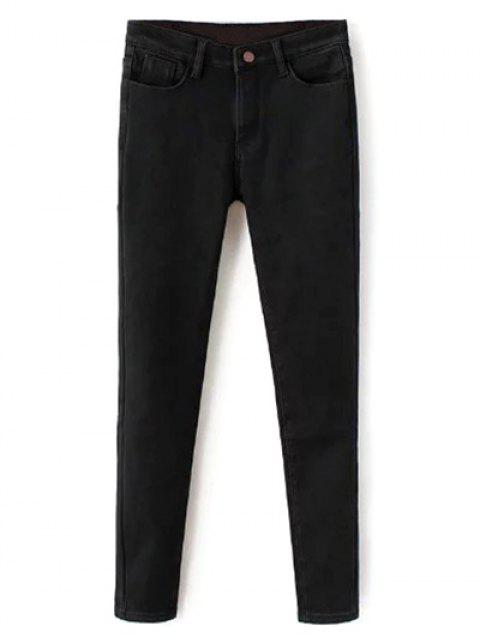 latest Super Elastic Wool Blend Pencil Jeans - BLACK 3XL Mobile
