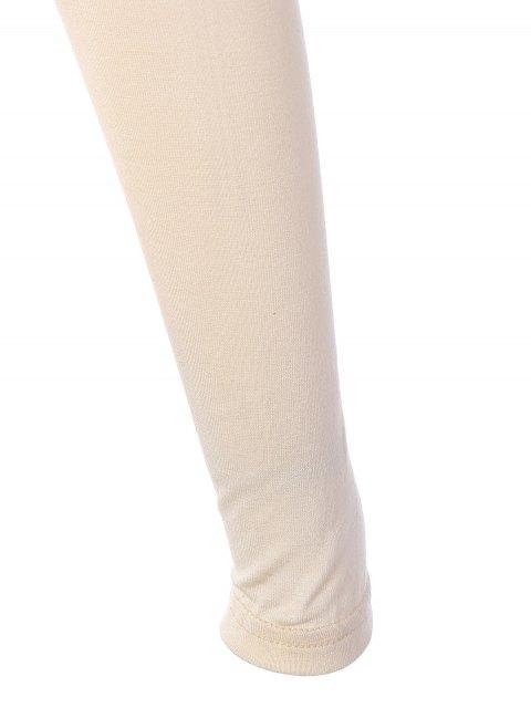 women Figure Graphic Square Neck Tee - APRICOT M Mobile