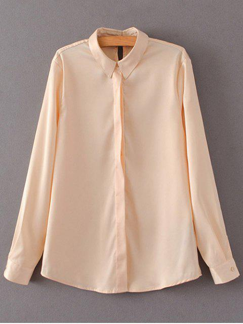 outfit Satins Formal Shirt - YELLOWISH PINK S Mobile