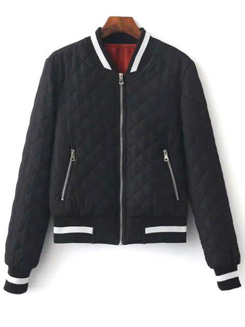 shops Zip Up Padded Pilot Jacket - BLACK L Mobile