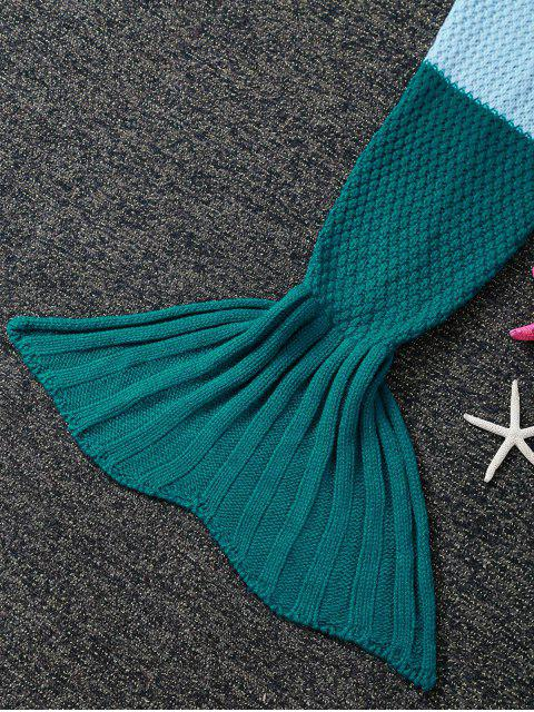 women Kids' Ombre Crochet Knit Mermaid Blanket Throw -   Mobile