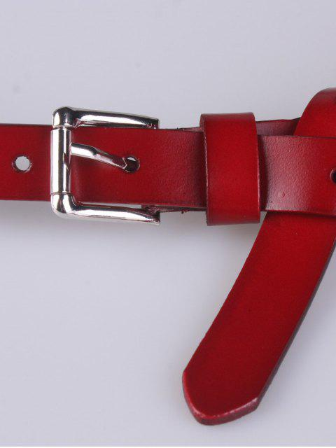 women Faux Leather Waist Belt - RED  Mobile
