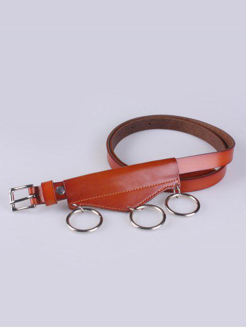 best Faux Leather Waist Belt - LIGHT BROWN  Mobile