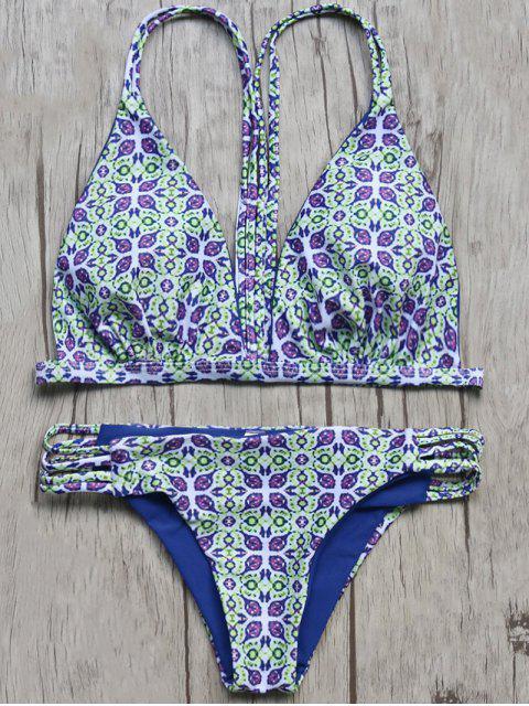 Vintage Imprimé Cami Bikini - Multicolore M Mobile