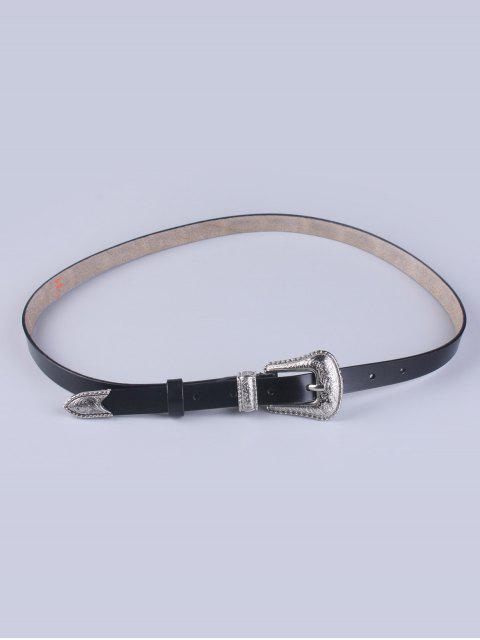 hot Vintage Pin Buckle Waist Belt - BLACK  Mobile