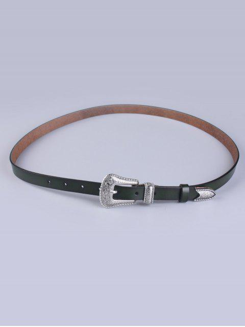 shop Vintage Pin Buckle Waist Belt - ARMY GREEN  Mobile