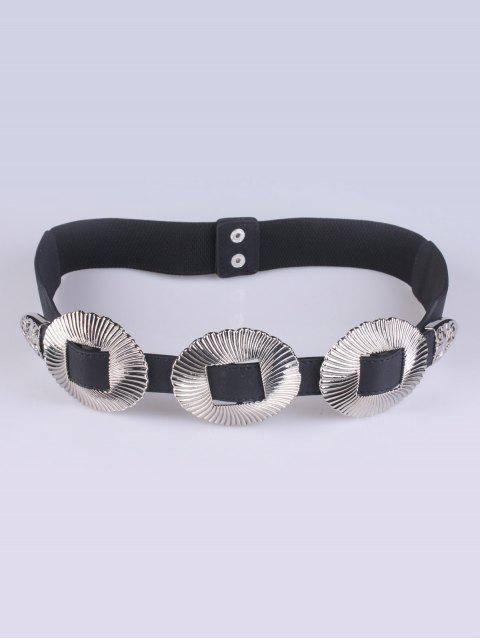 trendy Embellished Elastic Waist Belt - SILVER  Mobile