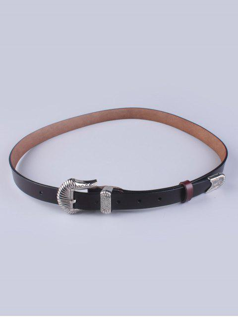 chic Pin Buckle Vintage Waist Belt - COFFEE  Mobile