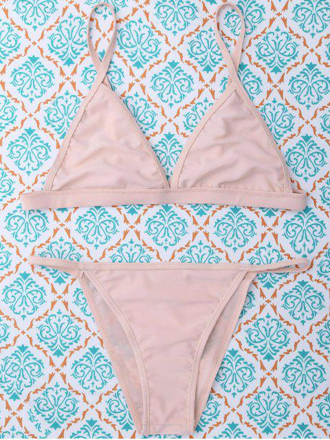 online Unlined Cami Bikini - SHALLOW PINK M Mobile