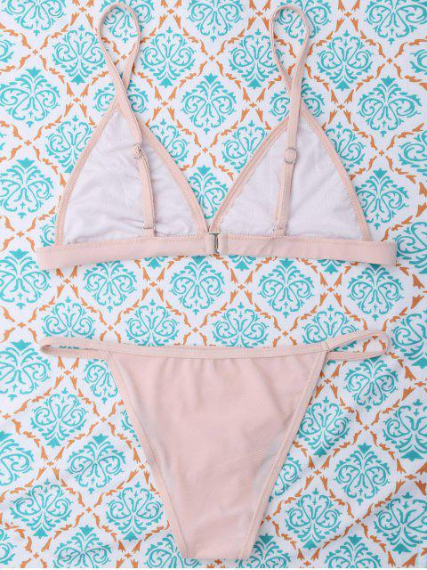 new Unlined Cami Bikini - SHALLOW PINK S Mobile
