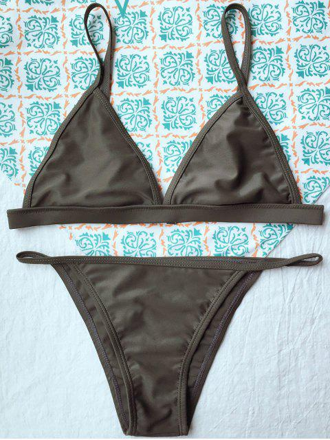 best Unlined Cami Bikini - ARMY GREEN M Mobile