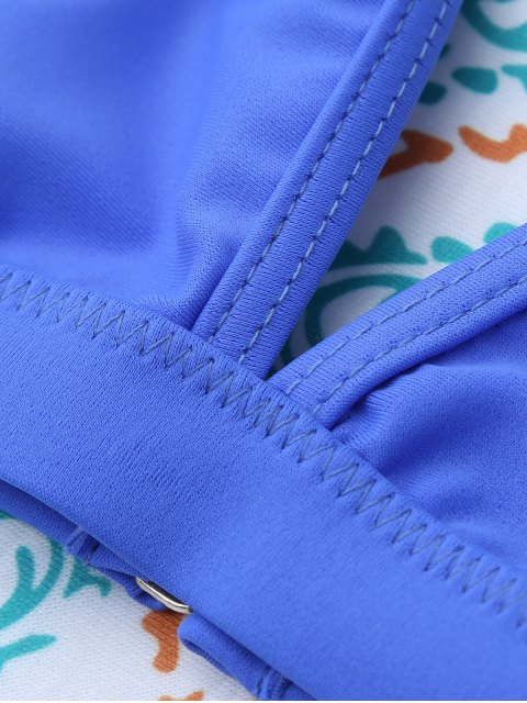 trendy Unlined Cami Bikini - BLUE S Mobile