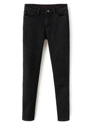 Super élastique Laine Blend Pencil Jeans - Noir 2xl