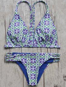 Vintage Imprimé Cami Bikini - M