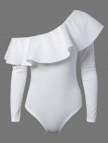 Ruffles Long Sleeve Skinny Bodysuit - White S