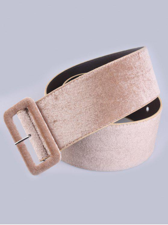 fancy Velvet Waist Belt - KHAKI