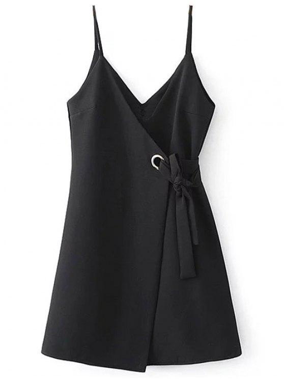 Auto Tie vestido Cami Wrap - Negro S