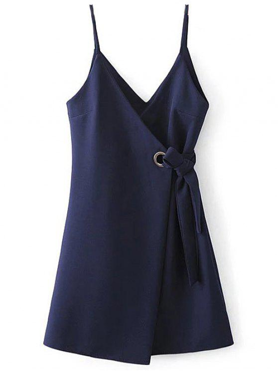 womens Self Tie Wrap Cami Dress - CADETBLUE L