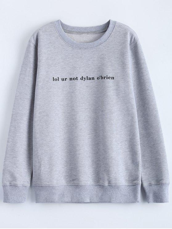 Streetwear Carta de la camiseta del patrón - Gris M