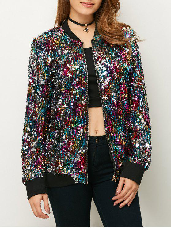 b01d4d588 Sequins Bomber Jacket MULTICOLOR