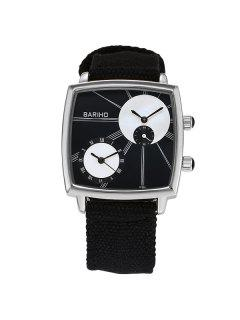 Roman Numerals Vintage Geometric Quartz Watch - Black
