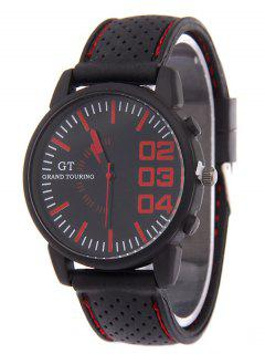 Outdoor Rubber Analog Watch - Red
