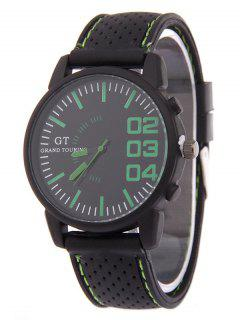 Outdoor Rubber Analog Watch - Green