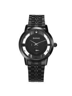 Stainless Steel Vintage Quartz Watch - Black