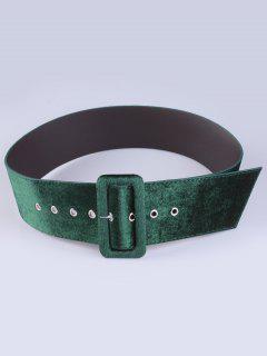 Velvet Waist Belt - Army Green