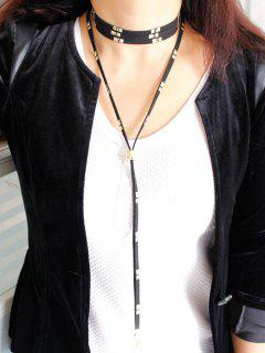 Rivet Bolo Necklace - Black