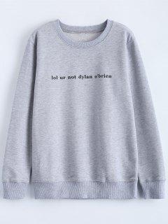 Streetwear Carta De La Camiseta Del Patrón - Gris S