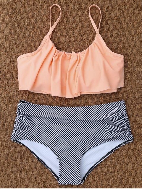 chic High Rise Flounce Bikini - COLORMIX XL Mobile